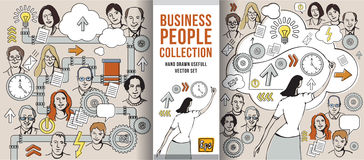 Business people collection Royalty Free Stock Photos