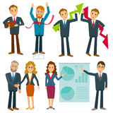 Business people collection vector Royalty Free Stock Photos
