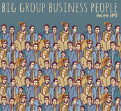 Business people color big group. Stock Photo