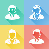 Business people colorful flat icons vector illustration