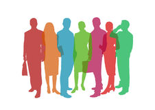 Business people colorful illustration Royalty Free Stock Photography