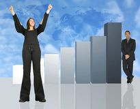 Business people - Colum chart Royalty Free Stock Photo