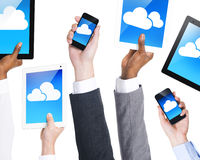 Business People with Communication Devices Royalty Free Stock Images
