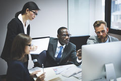 Business People Communication Discussion Planning Working Concep Stock Photos
