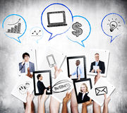 Business People Communication and Growth Stock Photo