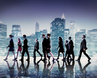 Business People Commuter Cityscape Team Concept Stock Image