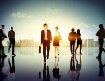 Business People Commuter Corporate Cityscape Pedestrian Concept Stock Photography