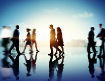 Business People Commuter Corporate Cityscape Pedestrian Concept.  Stock Images