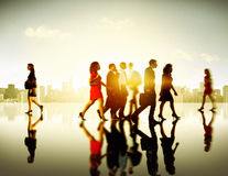 Business People Commuter Corporate Cityscape Pedestrian Concept Royalty Free Stock Photos