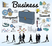 Business People Commuter Discussion Rush Hour Concept.  royalty free illustration