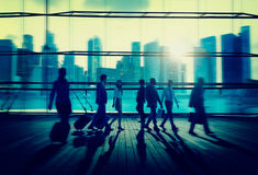Business People Commuter Rush Hour Concept Stock Photography