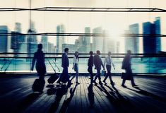 Business People Commuter Rush Hour Concept Royalty Free Stock Image