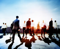 Business People Commuter Travel Walking Corporate City Concept royalty free stock images