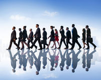 Business People Commuter Walking City Concept Royalty Free Stock Photography