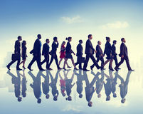 Business People Commuter Walking City Concept Royalty Free Stock Photo