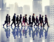 Business People Commuter Walking City Concepts Royalty Free Stock Images
