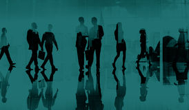 Business People Commuter Walking Cityscape Concept royalty free stock images