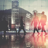 Business People Commuter Walking Cityscape Corporate Concept Royalty Free Stock Photo