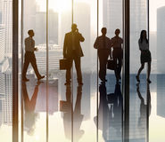 Business People Commuter Walking Communication Concept Royalty Free Stock Image