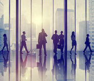 Business People Commuter Walking Communication Concept Stock Image