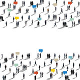 Business People Commuter Walking Crowed Concept Royalty Free Stock Photography