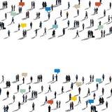 Business People Commuter Walking Crowed Concept vector illustration