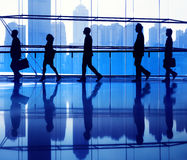 Business People Commuter Walking Office Concept Royalty Free Stock Images