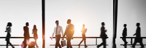 Business People Commuter Walking Rush Hour Concept Royalty Free Stock Image