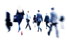 Business People Commuter Walking Rush Hour Corporate Concept Royalty Free Stock Images