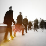 Business People Commuter Walking Travel Crowd Concept royalty free stock images