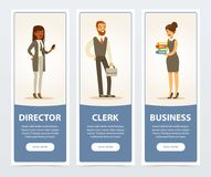 Free Business People, Company Staff, Business Banners For Advertising Brochure, Promotional Leaflet Poster, Presentation Flat Stock Photo - 102479340
