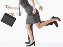 Business people competing Stock Images