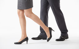 Business people competing. White background stock image