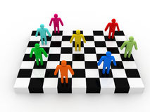 Business people competition on chessboard Royalty Free Stock Photos