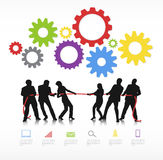 Business People Competition Team Aspiration Concept Royalty Free Stock Image