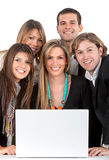 Business people with a computer Stock Photo