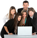 Business people with a computer Stock Image