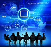 Business People and Computer Concepts Royalty Free Stock Image