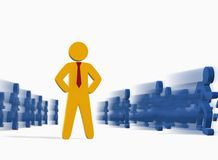 Business people concept – deadline. Business leader standing in front of the camera Stock Illustration