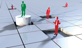 Business people concept on 3d blocks 2. Business concept with people on 3d blocks depicting success or winner Royalty Free Stock Photo
