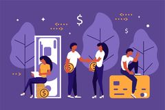 Business people concept stock illustration