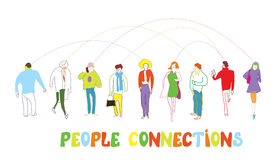 Business people concept - connection illustration Stock Photos