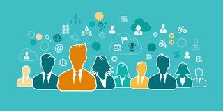 Business people concept illustration flat design Royalty Free Stock Image