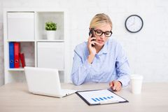 Business people concept - portrait of successful business woman Stock Images