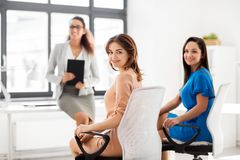 Businesswomen at business meeting in office Stock Photography