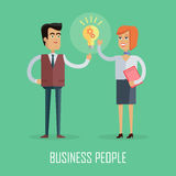 Business People Concept Vector in Flat Design Royalty Free Stock Photos