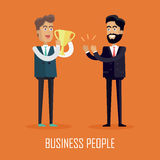 Business People Concept Vector in Flat Design. Stock Image