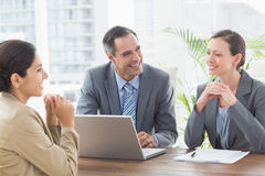 Business people conducting an interview Royalty Free Stock Photo