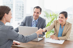 Business people conducting an interview Stock Image
