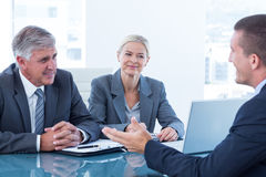 Business people conducting an interview Stock Images